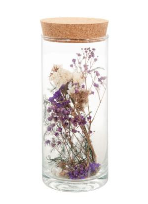 droogbloemen in glazen pot